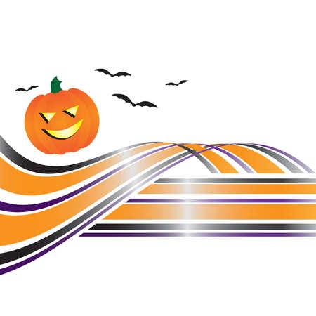 Abstract Halloween Swoosh Vector