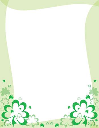 St. Patricks Day frame Vector