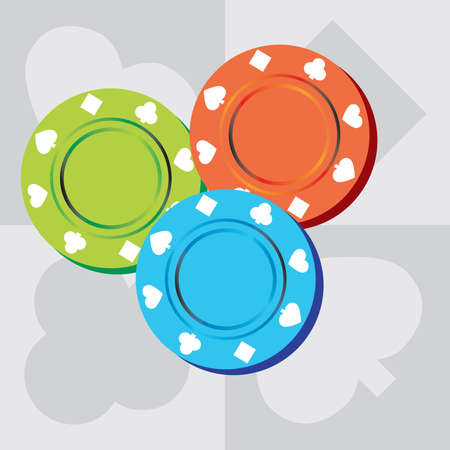 Poker Chips Banco de Imagens - 3267246