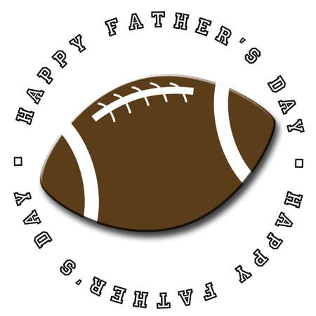 Illustrated Fathers Day icon featuring a football photo