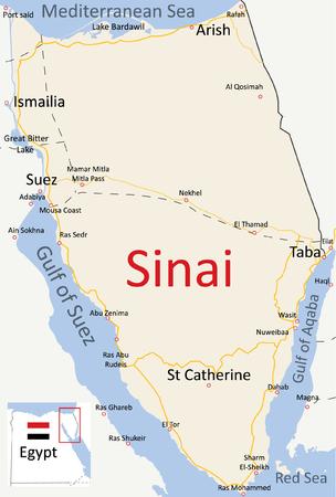 Map of Sinai Peninsula English Road Map