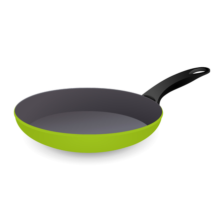 colorfully: Frying Pan Colorful Green. Vector