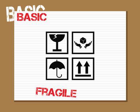 Basic Fragile Symbols Icons