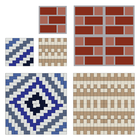Seamless pattern tiles brick wall vector