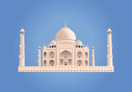 Taj Mahal. India. Vector. Very High Detail