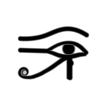 Eye of Horus. Pharaoh Symbols, Realistic Black Icon Vettoriali