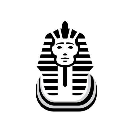 Vector Mask of Pharaoh. Black Icon on white Background