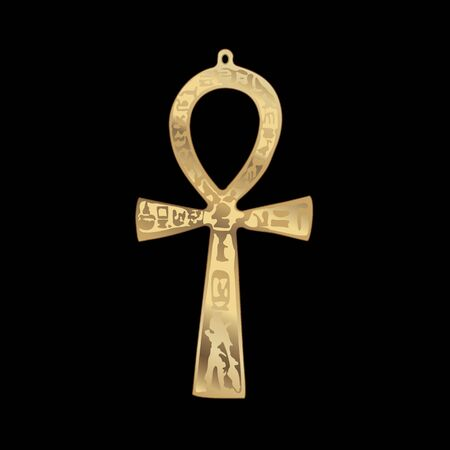 Vector. Key of Life, Stunning Egyptian Ankh symbol. Stock Illustratie