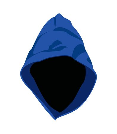 Hood Icon Simple Style - Head of the Jacket Vettoriali