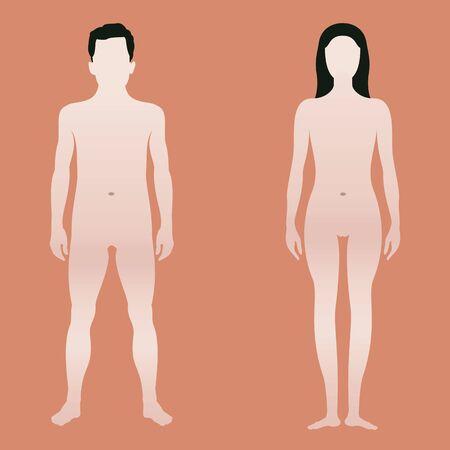 Forma del corpo di uomo e donna