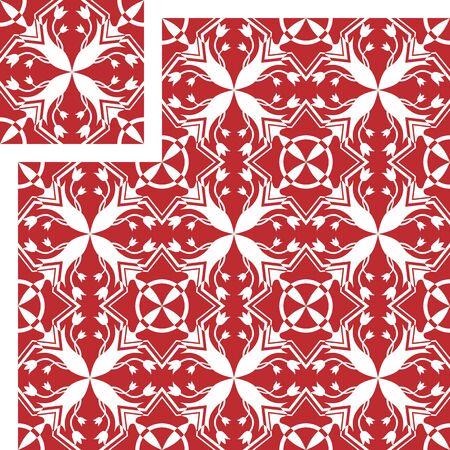 Vector seamless pattern. Arab tile texture, decorative wallpaper, book cover