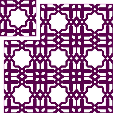 Vector Seamless Pattern for Decorative Panel. laser cutting, wallpaper, book cover Vettoriali