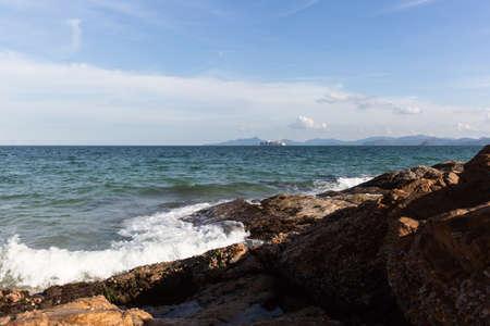 dorsal: Shenzhen, dorsal cuerno Beach, soleado