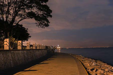 nightscape: shenzhen bay park, nightscape, evening