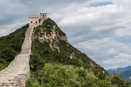 Miyun County Beijing Simatai Great Wall Standard-Bild