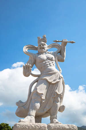 gods: the two sculptured of fierce-looking gods