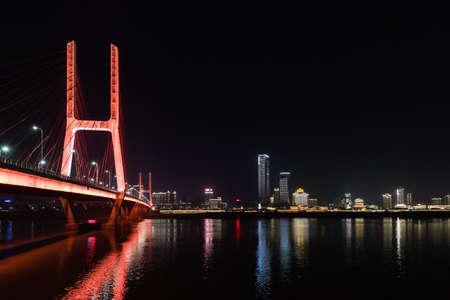 landscape riverside: City at night