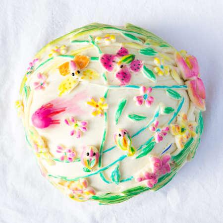 buns: Bollos de flores Foto de archivo