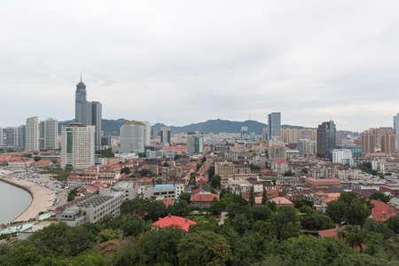 coastal city: The coastal city view of Yantai Editorial