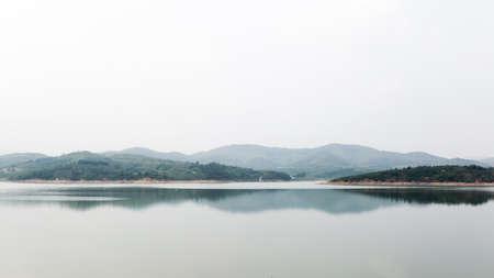 peacefulness: Yantai MenLou reservoir Stock Photo