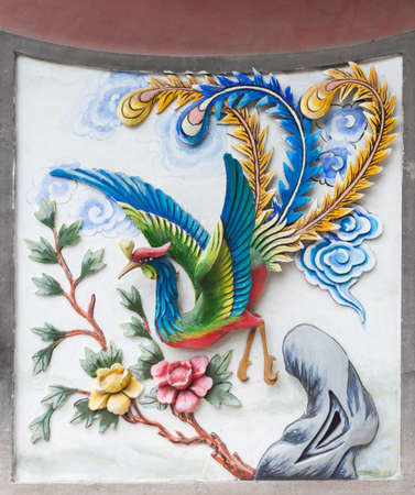 tin: Tin Hau Temple murals Stock Photo