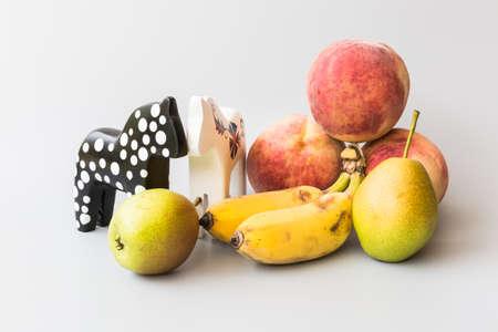 trojans: Trojans and fruit Stock Photo