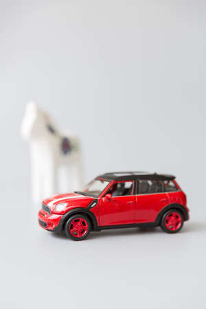 trojans: toy car Stock Photo