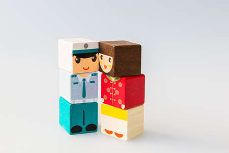 wooden doll: Wooden doll couple