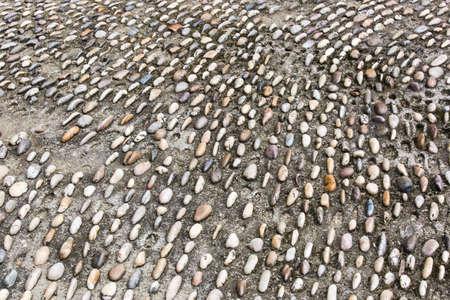 unpaved road: Gravel road Stock Photo