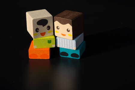 juggle: Toy building blocks Stock Photo
