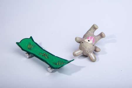 tumble down: Toys still life photography  Stock Photo