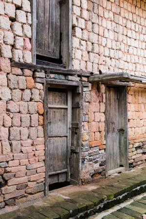 discard: Abandoned houses Stock Photo