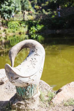 effigy: Ceramic ducks Stock Photo