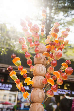 candied: Chinese-style Candied haws Stock Photo