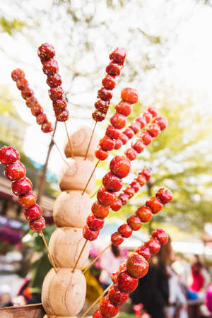 sweetmeats: Chinese-style Candied haws Stock Photo