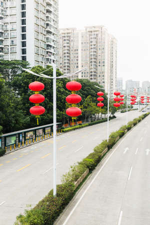 joyous festivals: Street view during festive season