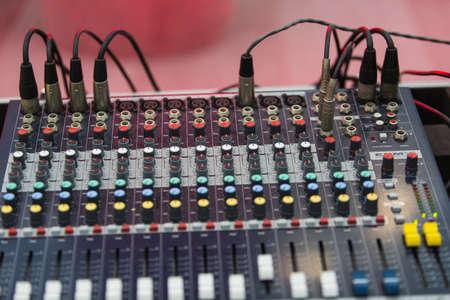 audible: Studio equipment Stock Photo