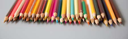 color pencil: a bunch of color pencil Stock Photo