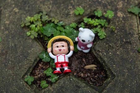 chibi: toy & Chibi Maruko-chan at ground Editorial