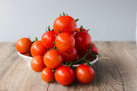 Cherry tomatoes on wood table