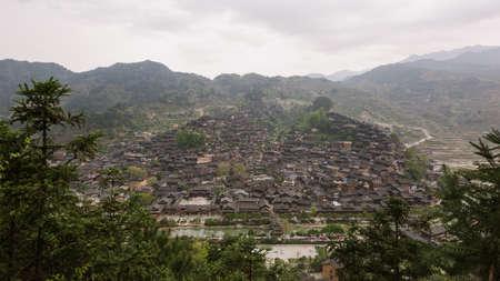 building feature: Miao village of Xijiang, Guizhou