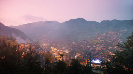 miao: This is the Miao village at night.