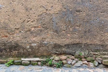 stucco: stucco wall and ground Stock Photo