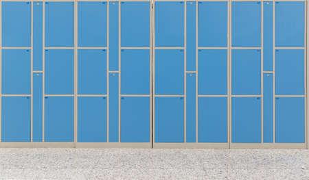 lockers: lockers in railway station Stock Photo