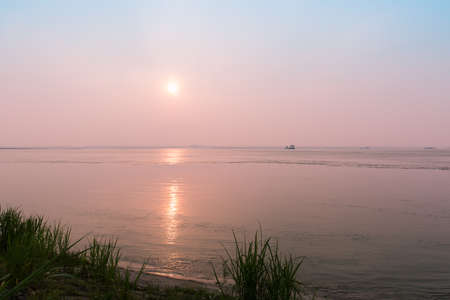 yangtze river: sunset by Yangtze River