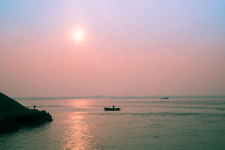yangtze: sunset by Yangtze River