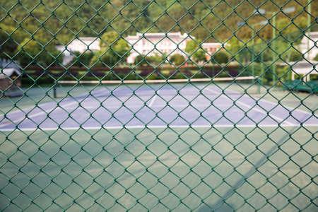 malla metalica: malla metálica y cancha de deportes