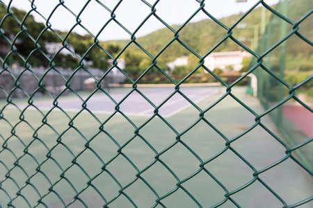 metal mesh: Metal mesh and sport court