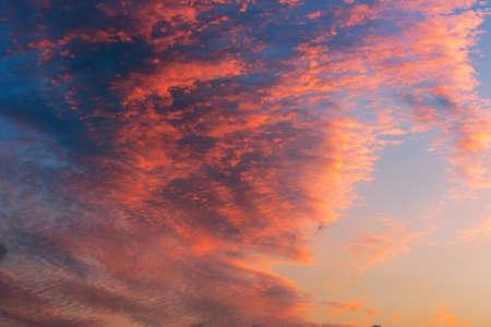 cloudscape,sunset Stock Photo