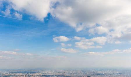 cloudscape: cloudscape over city Stock Photo